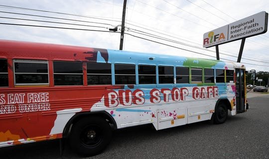 The Bus Stop Cafe bus from RIFA will be posted at one of the locations for the annual Pack the Bus Food Drive for snack backpacks being held this Saturday, Aug. 17.