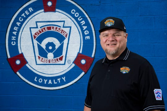 Marty Henry is a volunteer with West Knox County Little League and will be one of 16 umpires at the Little League World Series this month. He is pictured at Karns Community Park on Thursday, August 8, 2019.