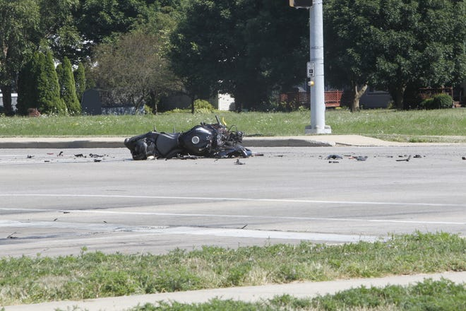 A motorcyclist was seriously injured in a crash with a minivan at Twyckenham Boulevard and Ninth Street about 3 p.m. Friday.