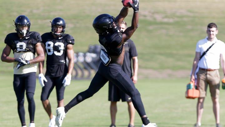 Purdue freshman receiver David Bell moving closer to full strength