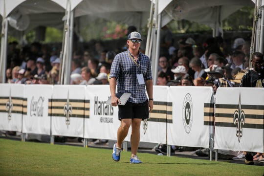 USA Today Network reporter Luke Johnson during a New Orleans Saints training camp practice at the Ochsner Sports Performance Center.