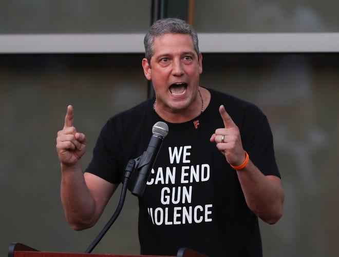 Congressman Tim Ryan, of Ohio, spoke during a rally supporting gun control legislation outside the Muhammad Ali Center in Louisville.Aug. 8, 2019