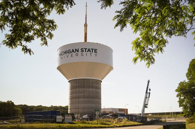 Construction on the water system filtration plant and storage tower on the campus of Michigan State University began in June of 2018. Officials say it should go into operation in early 2020.