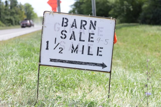 Sales last throughout the weekend along the Old 30, Lincoln Highway.