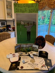 Dr. Bradley Campbell's family put together a display after he recorded his first hole in one at Trump Turnberry last month.