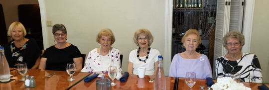 From left: Susan Ediss, Aren Alter, Priscilla Penn, Vini Just, Alicia Purple and Evelyn Case