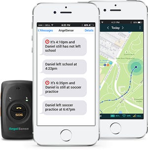 AngelSense GPS tracker has a feature where parents can listen in on the child.