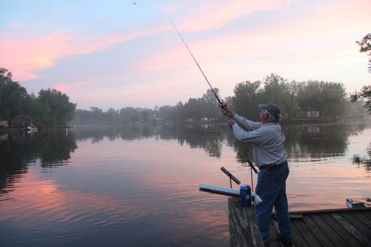 Night fishing for catfish on Wisconsin's Wolf River is rich experience