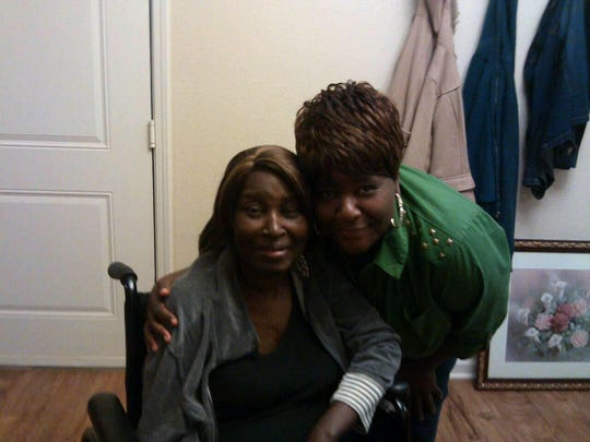 Verna Johnson poses with her sister, Marcella Johnson-Smith, who died in 2015 from kidney failure. Verna Johnson was diagnosed with kidney failure in October 2017.