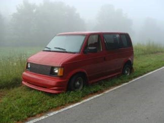 Franklin Scott Brown's van found with bullet holes in the side. Brown was found shot dead inside.