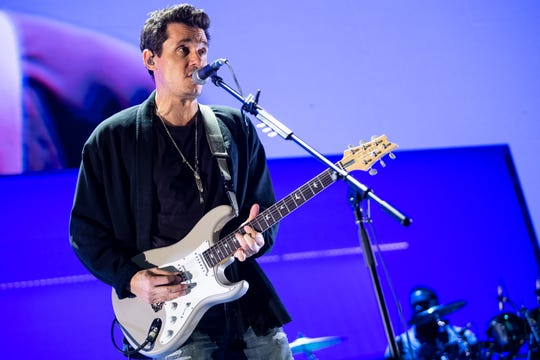John Mayer performs at Bridgestone Arena in Nashville, Tenn., Thursday, Aug. 8, 2019.