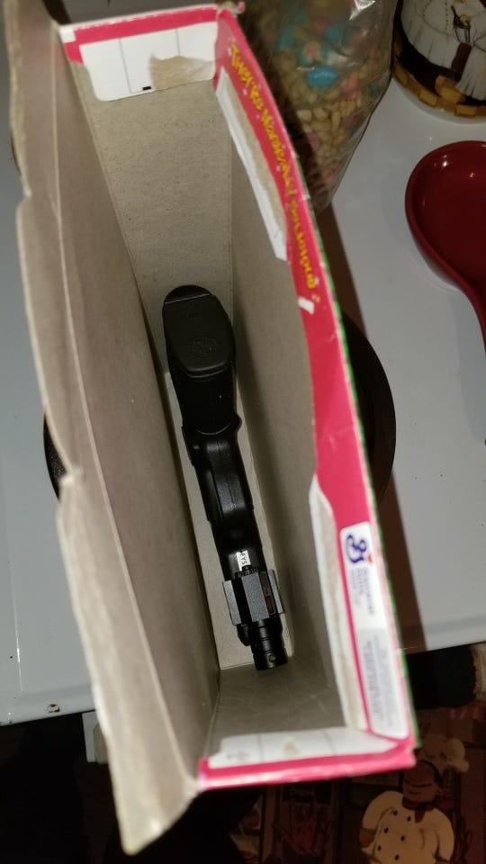 Gun found in cereal box