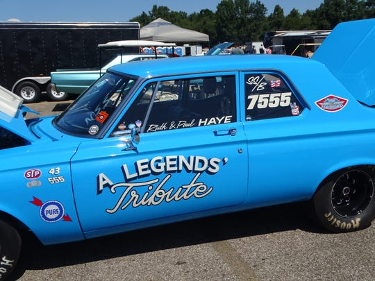 Paul Haye's 1955 Plymouth Belvedere is a tribute to his mentor Ken Montgomery, a former Super Stock champion, and NASCAR legend Richard Petty.