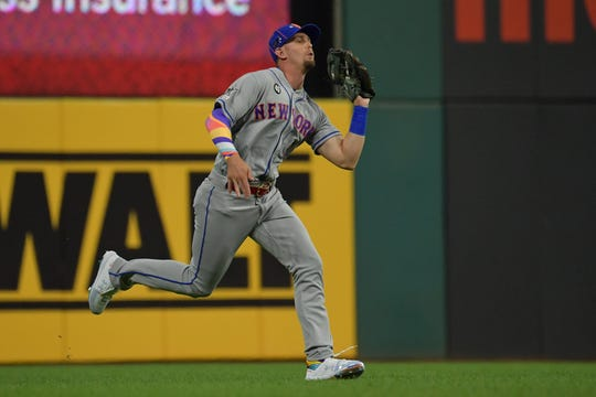 Jeff McNeil #6 of the New York Mets participates in the 2019 MLB All-Star Game at Progressive Field on July 09, 2019 in Cleveland, Ohio.