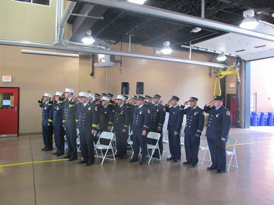 25 Paterson firefighters were promoted during an Aug. 9, 2019 ceremony at fire headquarters in Paterson.