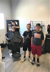 A total of 381 Las Cruces students received free haircuts by the Glitz School of Cosmetology Wednesday, Aug. 7, in preparation for the first day of school which started Thursday, Aug. 8.