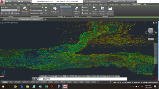 A digital image of the Carlsbad Caverns cave system using light detection and ranging (LiDAR) technology