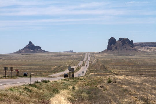 This stretch of U.S. Highway 491 south of Shiprock is pictured on May 23, 2017.