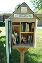 The Little Free Library outside the Livonia home of Nicole Mehelich.