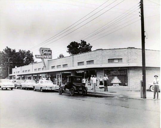 J. B. Sandoz new brick store when it opened in 1953.