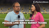 Ryan Wood and Olivia Reiner discuss Oren Burks' early exit from the Packers' preseason game against the Houston Texans.