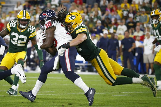 reputable site 77aa8 a9d33 Packers-Texans Insider: Rookie Ty Summers takes big step forward