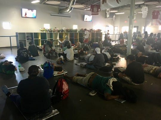 About 100 people who are homeless come daily to watch movies and stay cool at the Society of St. Vincent de Paul's dining room in Phoenix. Movies are shown in dining rooms in Mesa and Sunnyslope, too.