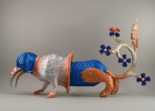 "Roberto Benavidez, ""Illuminated Piñata No. 2"" (2017)."