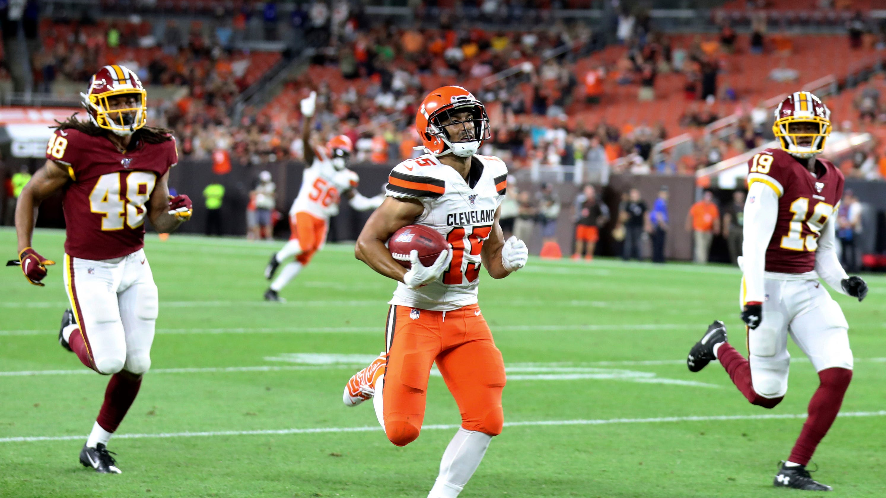 huge selection of 3222d 97fcc Browns' Damon Sheehy-Guiseppi wore Odell Beckham's shoes for ...