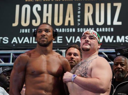 Anthony Joshua y Andy Ruiz volverán a enfrentarse en diciembre.