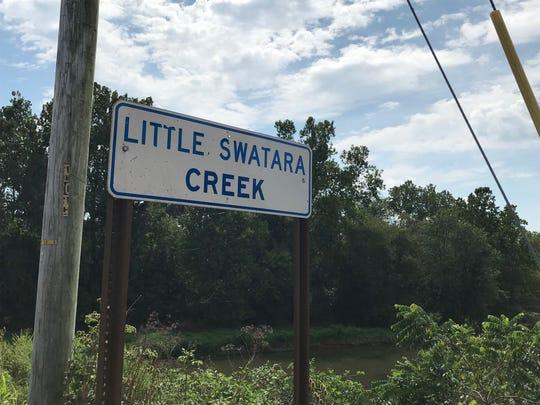 The Little Swatara Creek near the Keystone Protein plant in Fredericksburg.