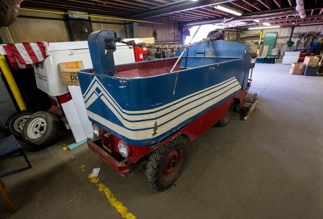 The city hopes to restore an old Zamboni that was previously used at McMorran. Formerly stored at the Chicory warehouse, it is now being stored at the city's parks office at Lakeside Cemetery.