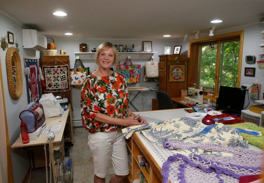 Peggy Norton inside her needlecraft studio at her home in Staatsburg on August 7, 2019.