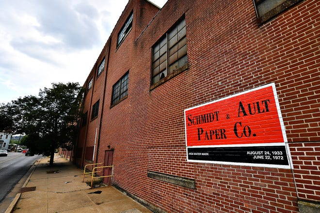 """The site of the former Schmidt & Ault paper mill will be the future home of York College's """"Knowledge Park."""""""