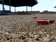Empty shells fall on the ground after a demonstrator shoots a World War II era trench gun at the York Fairgrounds on August 9, 2019.