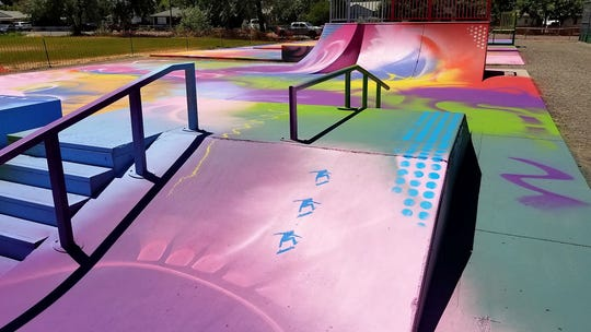 Fernley's newly-painted In-Town Skate Park.