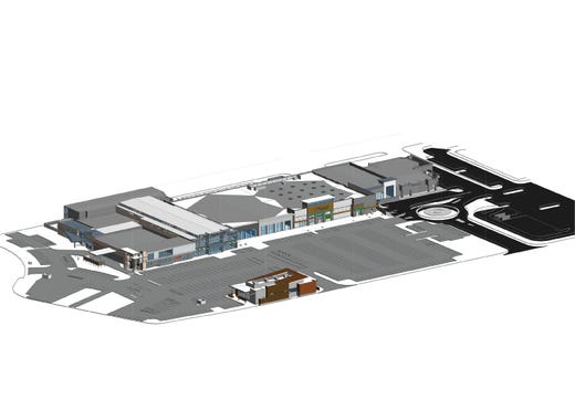 Renderings of the Reno Public Market project located on the former Shoppers Square site.