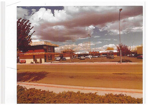 A photo from the late 1970s of the old Shoppers Square on the corner of South Virginia Street and Plumb Lane in Reno.