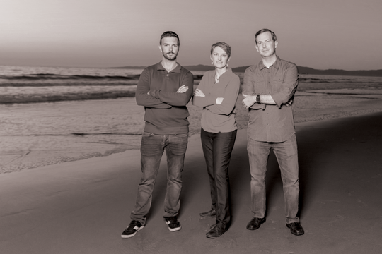 Co-founders of Slingshot Aerospace: Thomas Ashman, Melanie Stricklan and David Godwin.