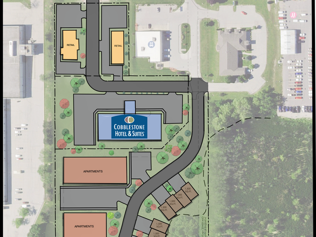 Cobblestone Hotels, Van Horn Real Estate plan Plymouth property