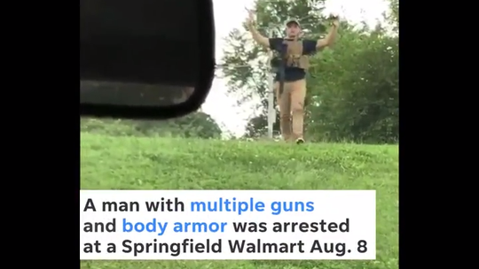 'Purely innocent': No regrets from man who walked into Walmart with body armor, loaded weapons
