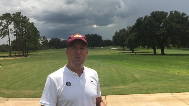 FSU men's golf coach Trey Jones gave the Democrat an exclusive tour of 10 of the holes at the new Seminole Golf Course as renovation continues.