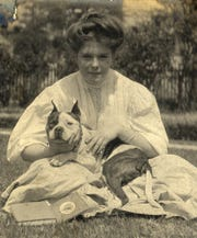 Thomasville History Center Collection: Marianne Watt & dog, 1906.