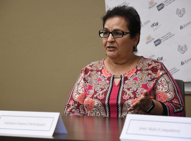 Kaweah Delta Medical Center and UCSF collaborated on a unique program to bring social and emotional support to rural Latina women with breast cancer. Edelmira Ramos is a Tulare County woman who participated in the groundbreaking study and spoke of her experience at the hospital on Aug. 8, 2019.
