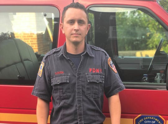 Firefighter Matthew Clinton saved a 4-year-old boy from a hot car in Queens on Aug. 8, 2019. The boy's New Rochelle father was arrested at the scene.