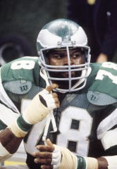 No. 82, Carl Hairston. DE, LB, 1976-1983