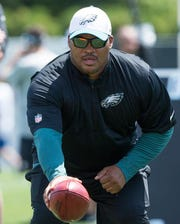 Duce Staley, now the Eagles' running backs coach, surpassed 1,000 yards rushing three times in seven seasons from 1997-2003.