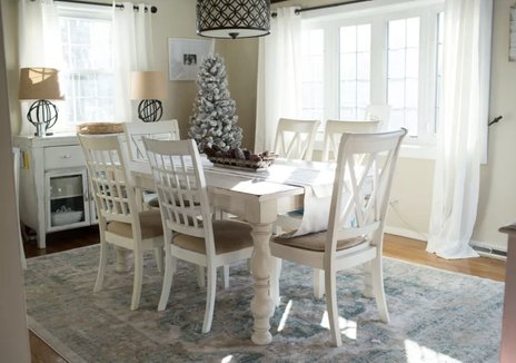 This dining room table feels like home.