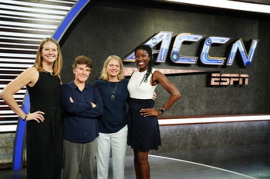 From left to right: Stacie McCollum, Amy Rosenfeld, Meg Aronowitz and Rosalyn Durant are among the women who have created the ACC Network, which has been launched since August 22.