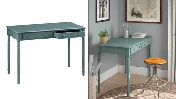 This simple desk will look fabulous while keeping you focused and organized.